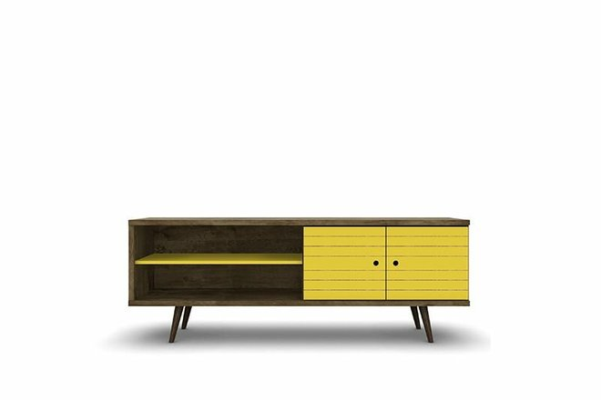 "Liberty 62.99"" TV Stand Brown/Yellow"