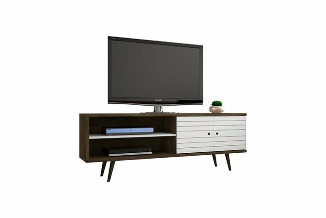 """Liberty 62.99"""" TV Stand Brown/White"""