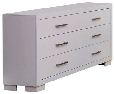Jessica 6-Drawer Dresser White