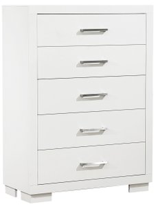 Jessica 5-Drawer Chest White