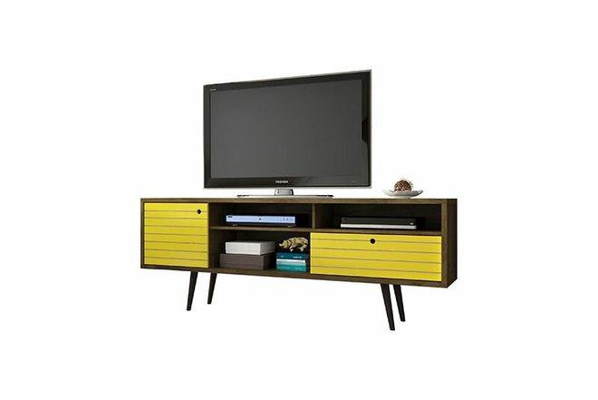 "Liberty 70.86"" TV Stand Brown/Yellow"