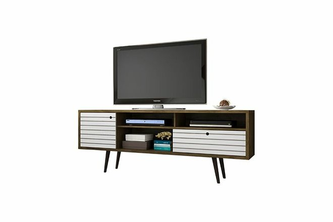"""Liberty 70.86"""" TV Stand Brown/White"""