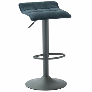 Pluto Gas Lift Stool Blue and Gray (Set of 2)