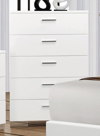 Felicity Contemporary Chest Glossy White