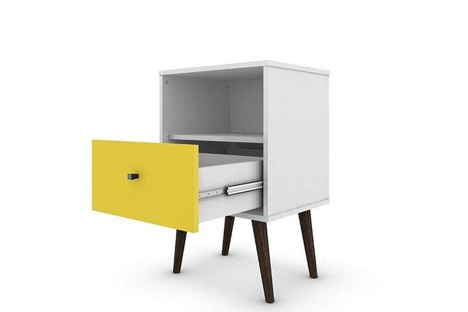 Liberty Modern Nightstand 1.0 White/Yellow