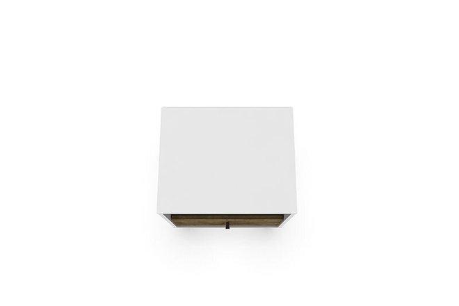 Liberty Mid Century Modern Nightstand White/Brown