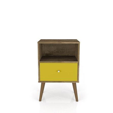 Liberty Mid Century Modern Nightstand Brown/Yellow