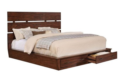 Artesia Industrial Queen Bed Dark Cocoa