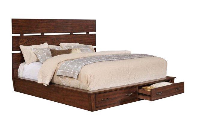 Artesia Industrial California King Bed Dark Cocoa