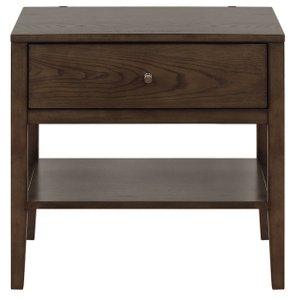 Lompoc Mid-Century Modern Nightstand Ash Brown