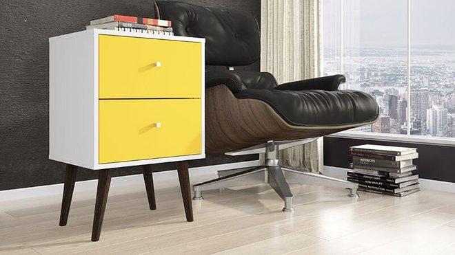 Liberty Modern Nightstand 2.0  White/Yellow