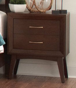 Carrington Two-Drawer Nightstand Coffee