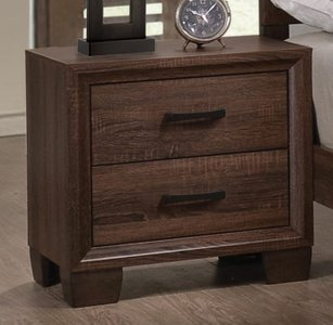 Brandon Transitional Nightstand Warm Brown