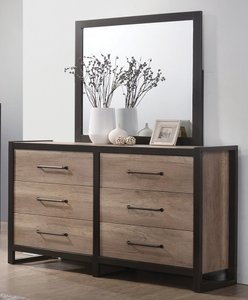 Edgewater Industrial Dresser Weathered Oak