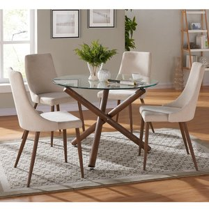 Rocca Cora Dining Set For 4 Brown