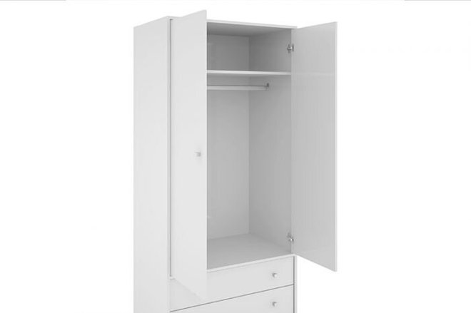 Liberty Modern Armoire White