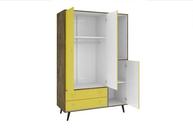 Liberty Modern Armoire Yellow/Brown