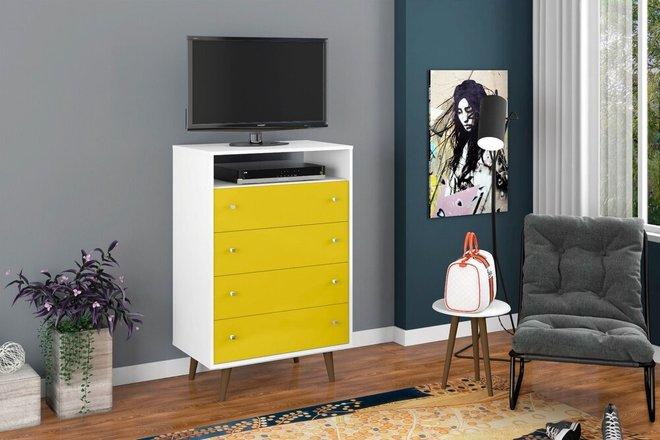Liberty Dresser White/Yellow