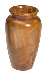 Meso Vase Natural & Antique Gold