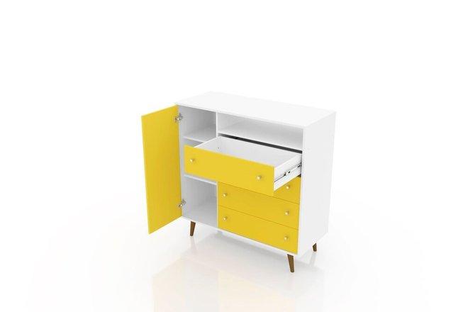 "Liberty 42.32"" Sideboard White/Yellow"