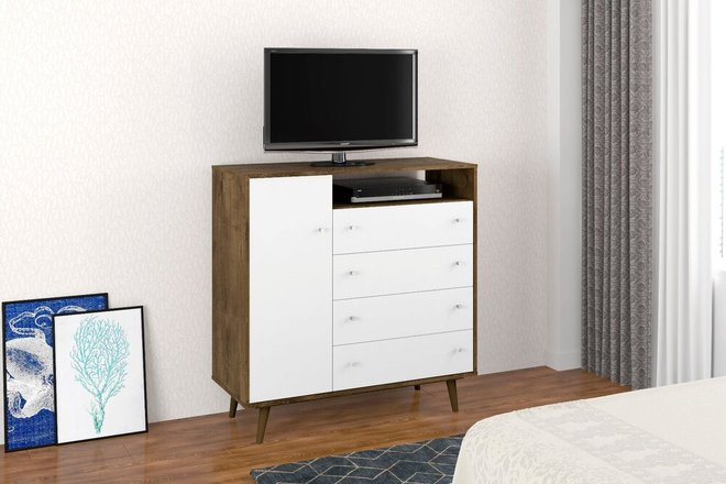 "Liberty 42.32"" Sideboard Brown/White"