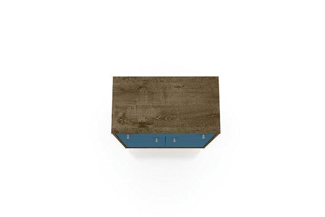 "Liberty 28.07"" Storage Cabinet Brown/Aqua Blue"