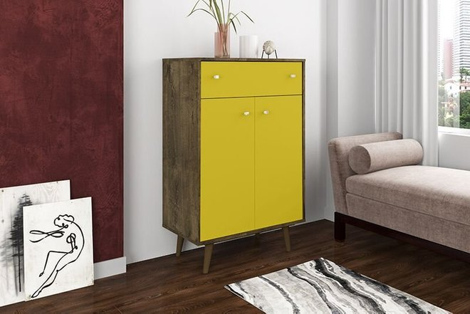 Liberty Storage Cabinet Brown/Yellow