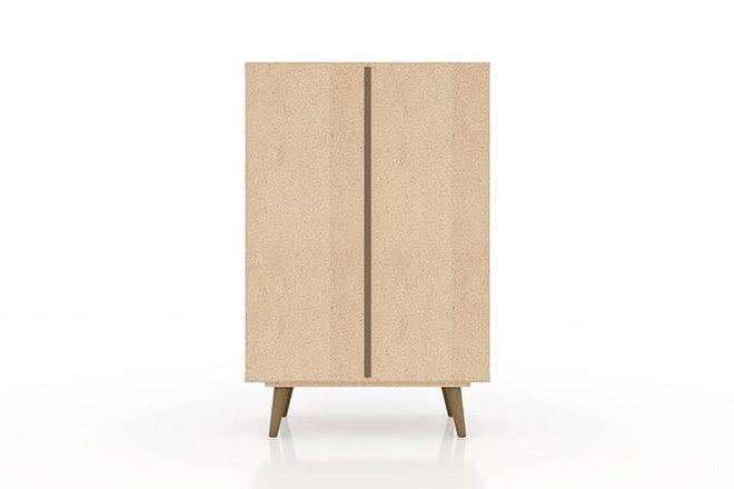 "Liberty 28.07"" Storage Cabinet Brown/White"