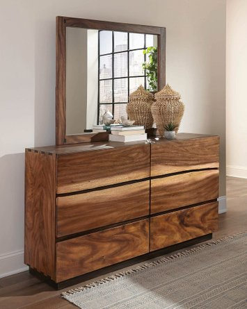 Scott Living Dresser Rustic Smokey Walnut