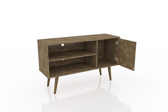 """Liberty 42.52"""" Mid Century Modern TV Stand Rustic Brown"""