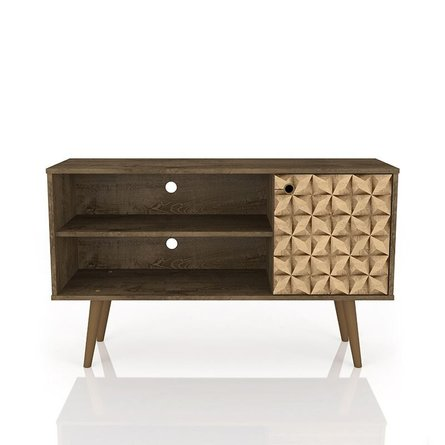 """Liberty 42.52"""" Mid Century Modern TV Stand Brown/3D Brown Prints"""