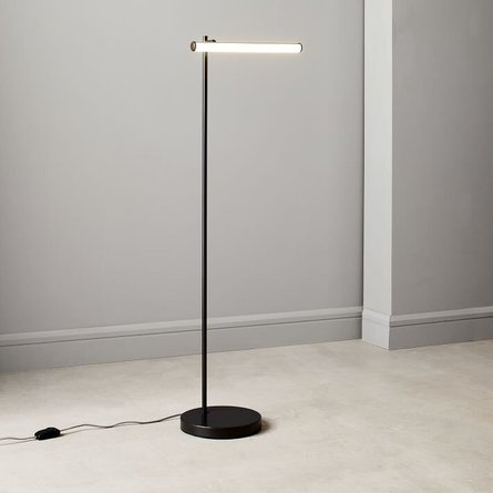 West Elm Light Rods Led Reader Floor Lamp Dark Bronze