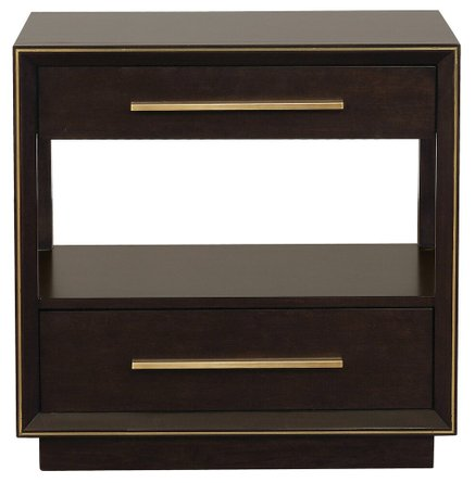 Scott Living Nightstand Smoked Peppercorn