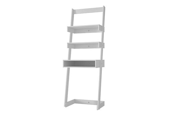 Carpina Ladder Desk With 2 Shelves White