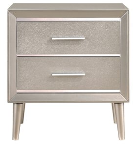Ramon Nightstand Metallic Sterling
