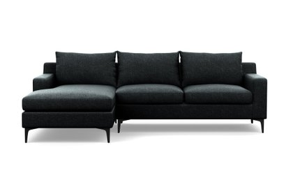 Sloan Left Extended Sectional Sofa Domino