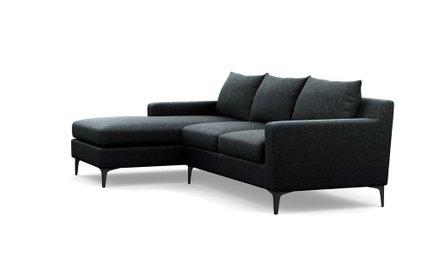 Sloan Left Extended Sectional Sofa Domino