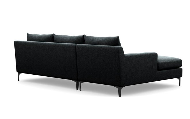 Interior Define Sloan Left Extended Sectional Sofa Domino