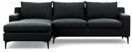 Interior Define Sloan Left Extended Sectional Sofa Domino