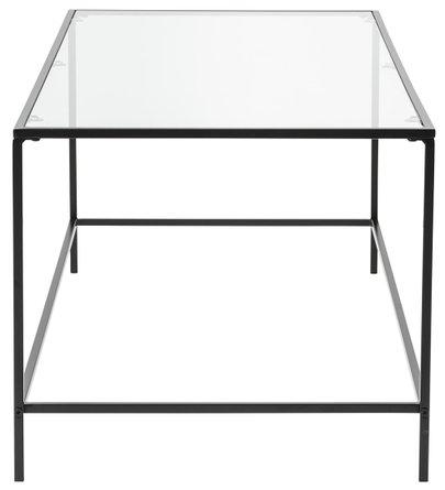 "Arvi 44"" Coffee Table Clear & Black"