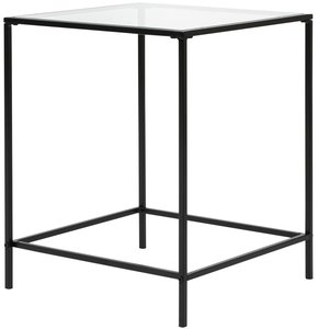 "Arvi 18"" Side Table Clear & Black"