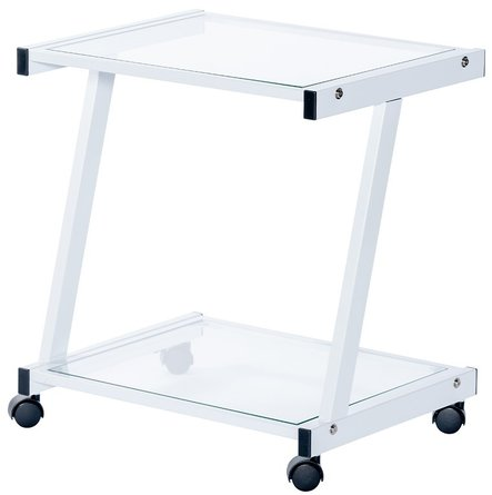 L-Series Printer Cart White & Clear