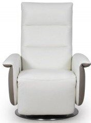 Olso Power Swivel Chair Pure White/Light Gray