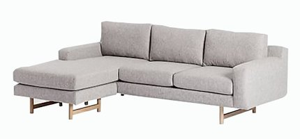 West Elm Eddy Reversible Sectional Sofa Feather Gray