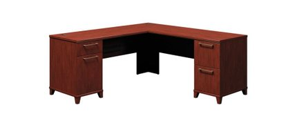 """Office Desk L Shaped With Drawers 72"""" X 72"""" Harvest Cherry"""