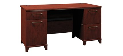 """Office Desk With Drawers 60"""" Harvest Cherry"""