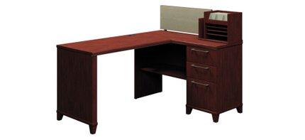 "Corner Desk With Storage 60"" X 47"" Harvest Cherry"