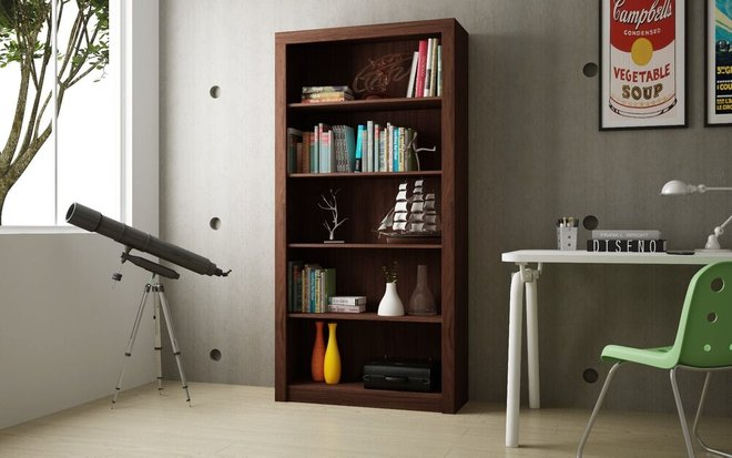 Catarina Cabinet 6 Shelves Nut Brown