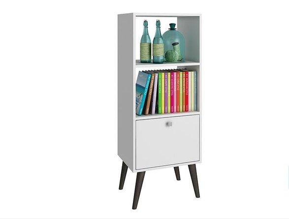 Sami Double Bookcase White