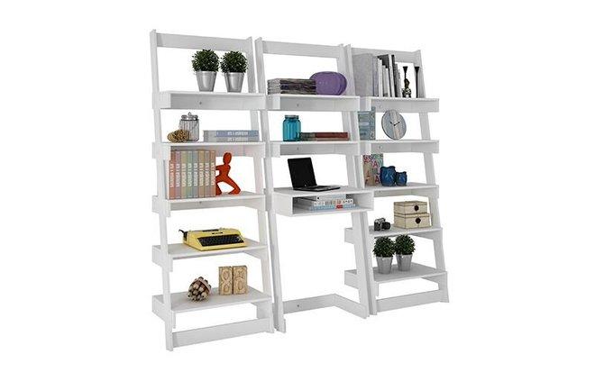 Carpina Ladder Desk/Shelve Set White